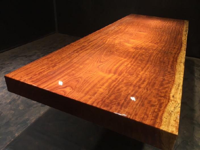 奥坎竞技宝和雷竞技哪个好大板原木餐桌 中式茶桌 老板办公雷竞技靠谱吗套装组合巴花大板示例图11
