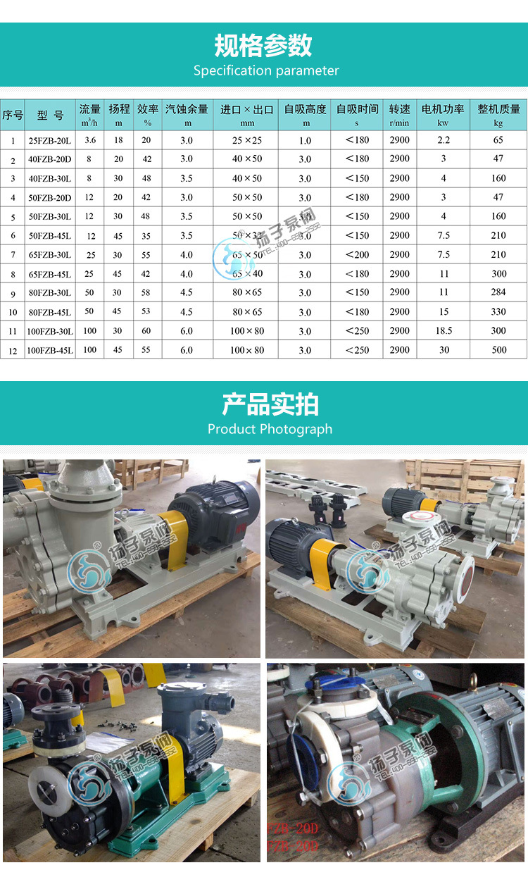 50FZB-30L 自吸泵型号结构污水卧式自吸排污泵厂家 耐酸碱自吸泵示例图11