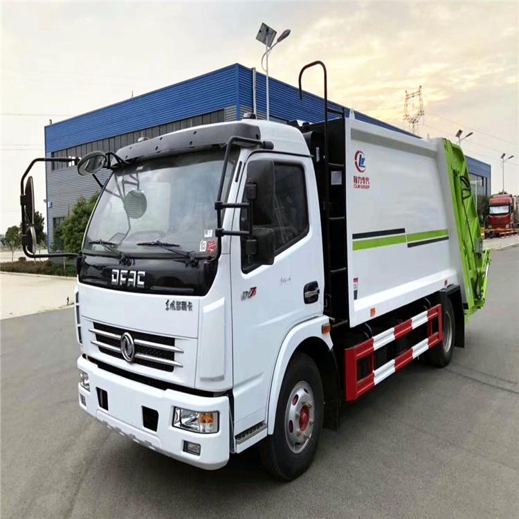國六5方8方掛桶垃圾車 固原垃圾壓縮車介紹 環衛垃圾回收車 廠家直銷  可分期購買的垃圾清運車