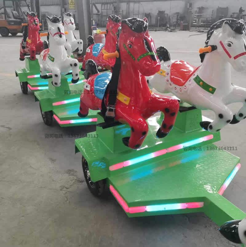 跑马火车,骑士小队,骑马无轨小火车,起伏马火车骑仕火车新款儿童游乐设备到郑州大洋游乐设备厂家直销骑士小队小火车生产厂家示例图12