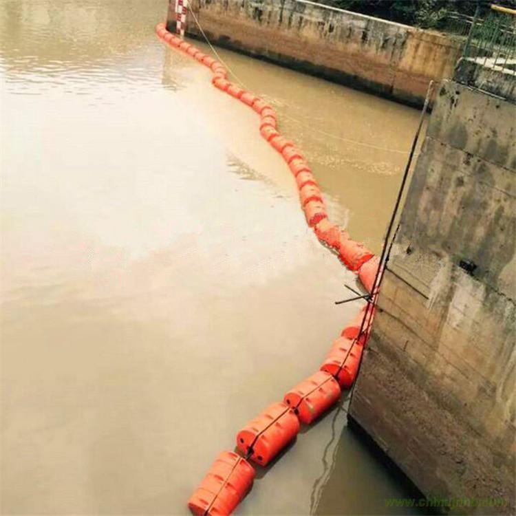 莲池水面杂草拦截浮体 运河水面航道警示浮体 湖内生态保护区警示浮体