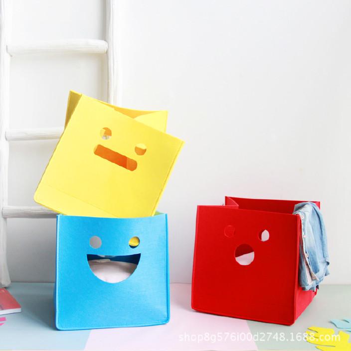 创意卡通不织布收纳桶毛毡玩具杂物收纳筐圣诞节礼物桶 可定制示例图8