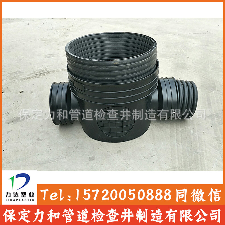 450*300流槽直通井 塑料直通井|排水检查井|河北生产厂家示例图6