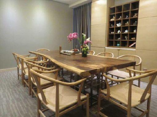南美胡桃木实木大板餐桌胡桃木原木家具餐桌 南美花梨实木餐桌椅示例图27