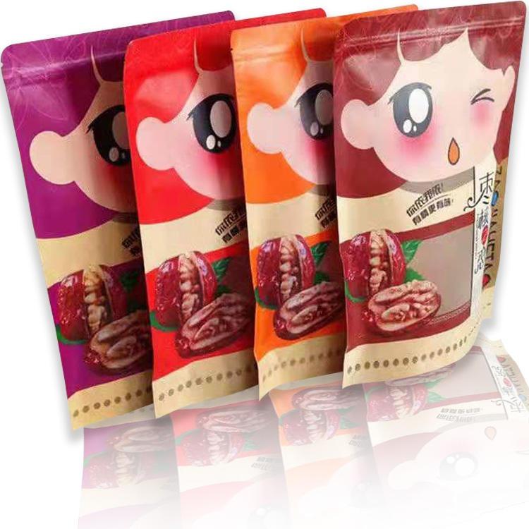 枣核之恋牛皮纸塑料开窗包装袋新疆特产红枣夹核桃半斤一斤礼品袋
