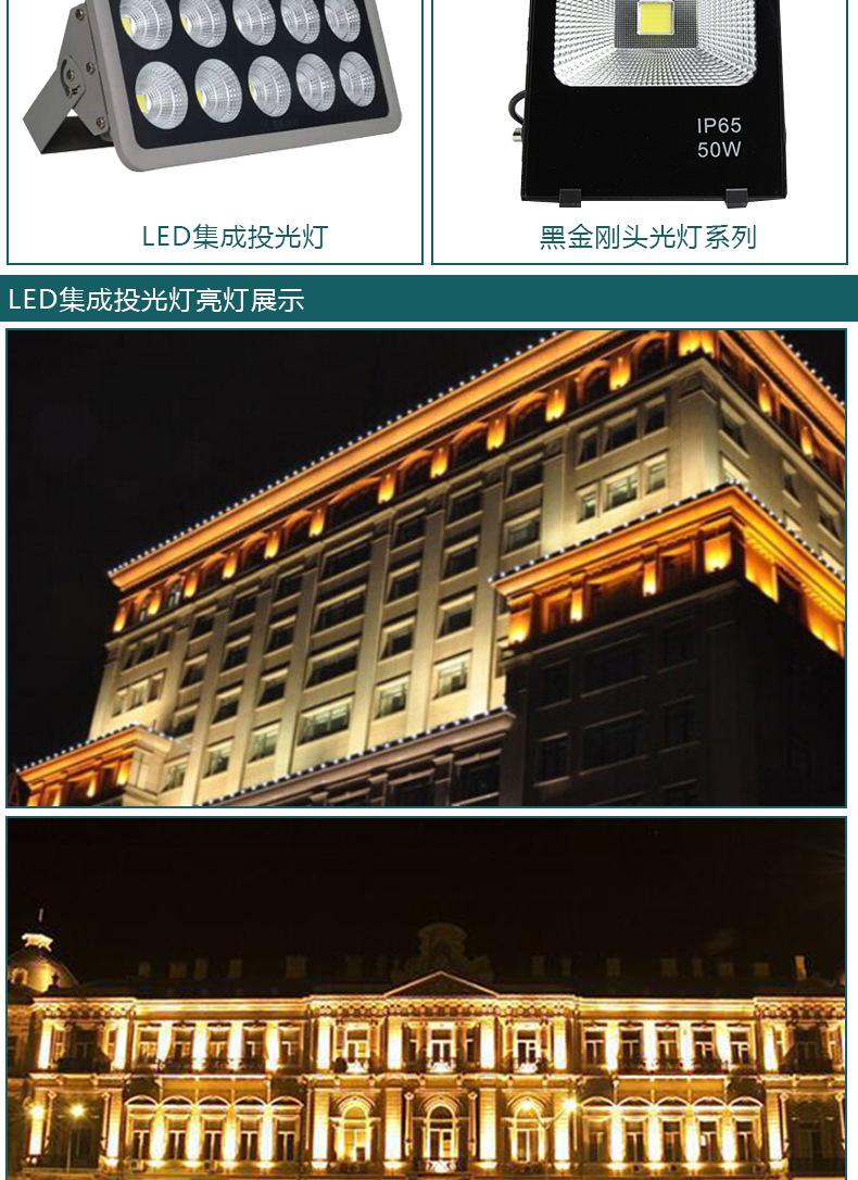厂家批发户外照明防水 LED 50W大功率集成投光灯 LED集成投射灯示例图9