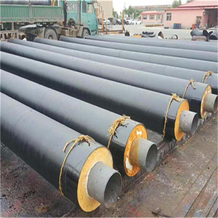 耐高溫鋼套鋼蒸汽保溫鋼管 耐高溫聚氨酯蒸汽保溫管  直埋蒸汽保溫管道 型號齊全  龍都管道廠價直銷