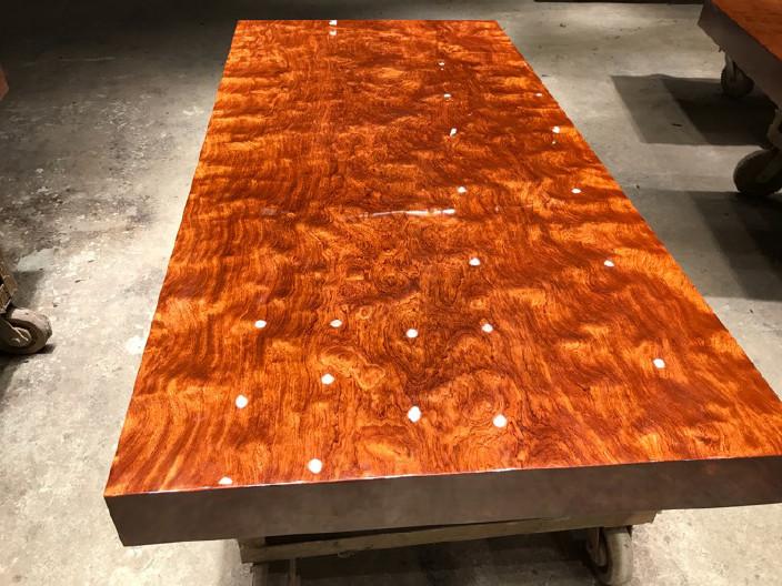 现货巴花大板竞技宝和雷竞技哪个好大板桌家用奥坎黄花梨办公桌原木大板台餐桌示例图18