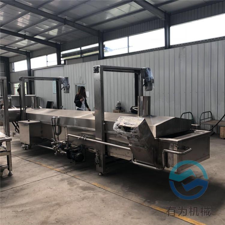 2019新型炸豬腳油炸機廠家 有為科技YWDZ6000豬蹄油炸機價格