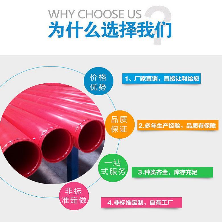 秦淮区热浸塑电力穿线管 热浸塑钢管网 超耐腐蚀
