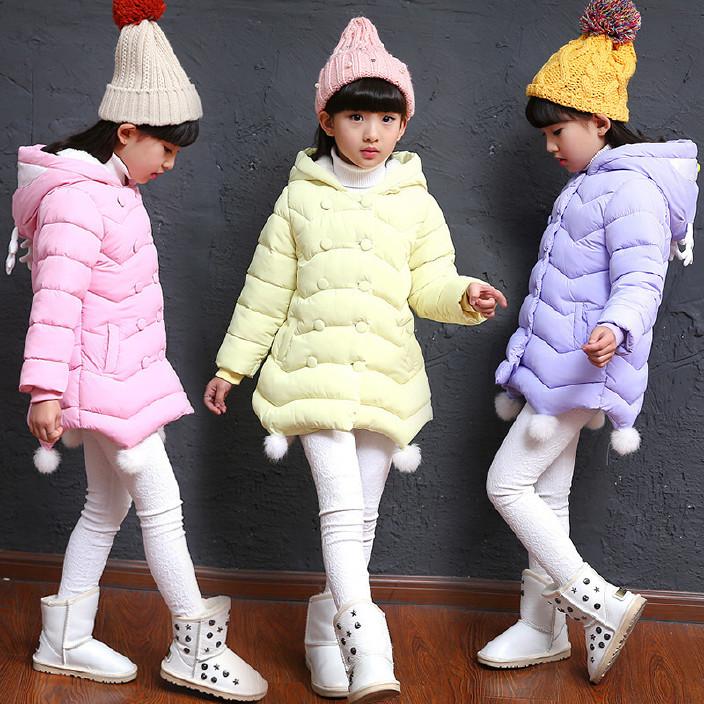童裝兒童卡通童棉衣中大童韓版棉襖2017冬季女童羽絨棉服一件代發