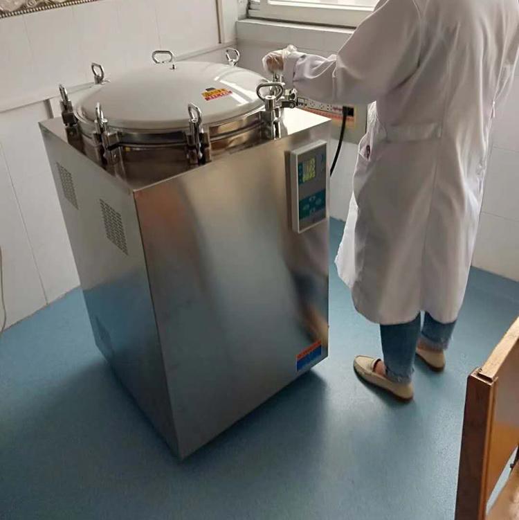 120升滅菌鍋 立式不銹鋼高壓滅菌鍋 LS-120LD翻蓋式滅菌器示例圖3