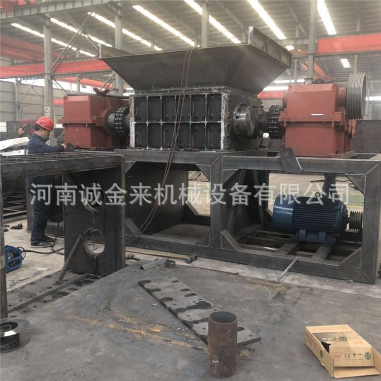 废旧轮胎撕碎机 节能环保橡胶回收破碎机800强力铁皮撕碎机示例图4