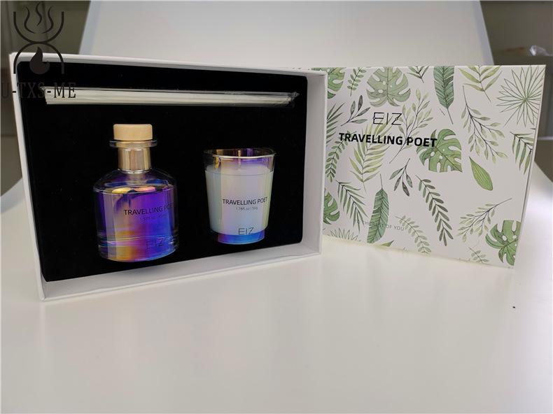 玻璃杯家居植物精油环保进口大豆蜡烛散香器爱博国际lovebet套装伴手礼示例图3