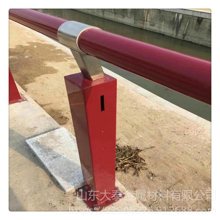 q235防撞立柱鍍鋅 江西橋梁護欄鋼板立柱 201復合管護欄價格
