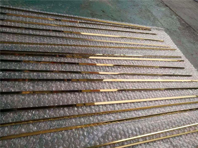 镜面玫瑰金T型条瓷砖收边条嵌入式钛金装饰条软包线条  厂家定制示例图16