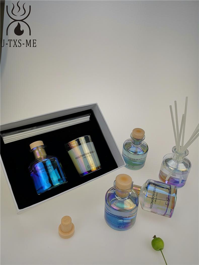 玻璃杯家居植物精油环保进口大豆蜡烛散香器爱博体育手机端下载套装伴手礼示例图6