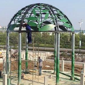 專業生產安裝鐵藝穹頂,歐式景觀亭,新中式景觀亭,圓頂亭,方頂亭