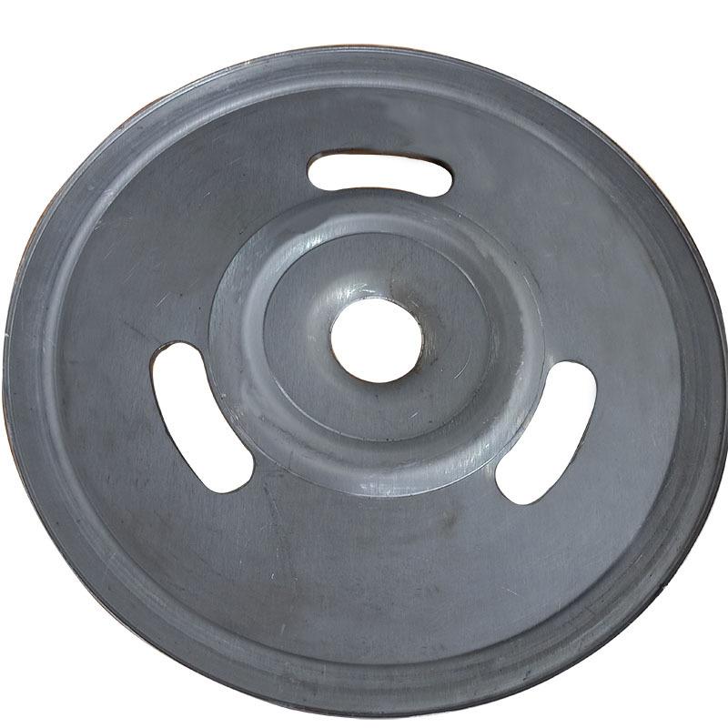 厂家直销新款熟铁旋压单槽劈开式皮带轮可定做示例图2