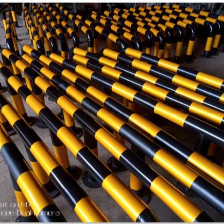 绵阳精兴实力 厂家生产警示柱、预埋金属铁管路障、防撞柱,活动隔离柱 U型柱