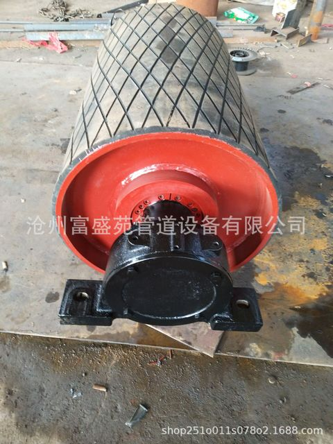 富盛苑廠家生產各種型號包膠滾筒 無動力改向滾筒 橡膠輥筒加工