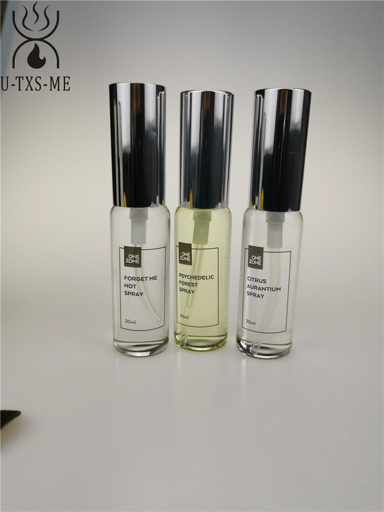 拉管香水玻璃瓶家居植物精油环保空气清新30ml圆形喷雾爱博国际lovebet香水示例图4