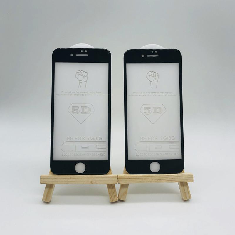 iphoneX手机?;つ? 全屏苹果钢化膜  5D冷雕苹果7plus手机钢化膜