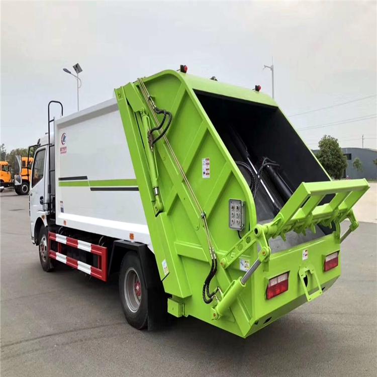 國六5方8方掛桶垃圾車 蘭州垃圾壓縮車工作視頻 環衛垃圾回收車 廠家直銷  可分期購買的垃圾清運車