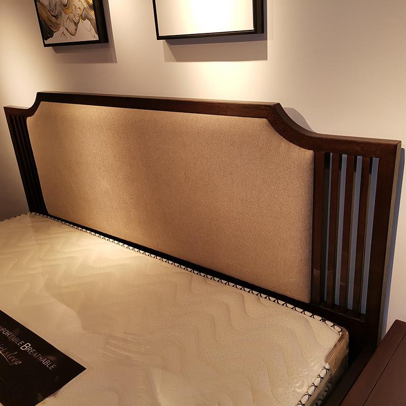 现代新中式实木床 简约卧室双人床 大婚床乌金木家具 可定制示例图5