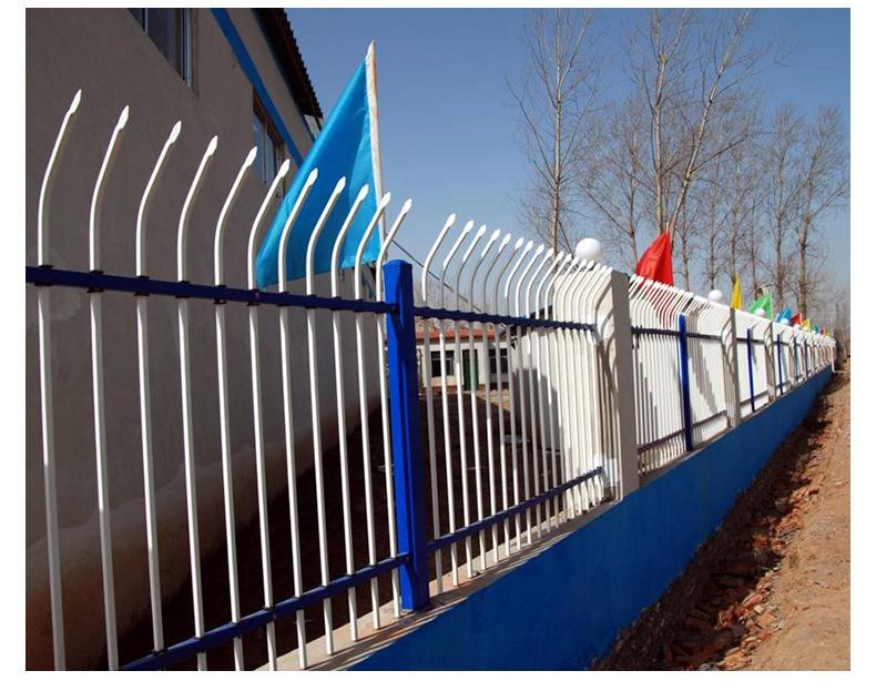 批发 别墅小区铁艺防爬围墙护栏 庭院新村园林工厂锌钢防护栏杆示例图19
