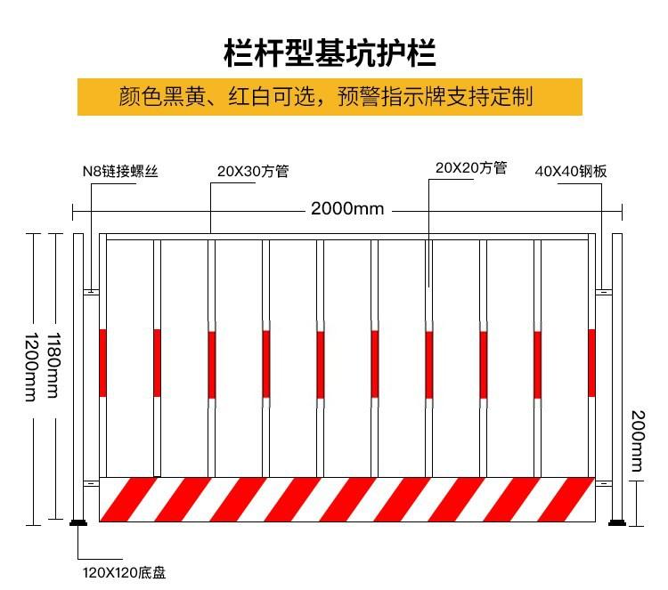 1000套当天发货红白基坑护栏楼层临边防护栏杆工地定型化防护围栏示例图14
