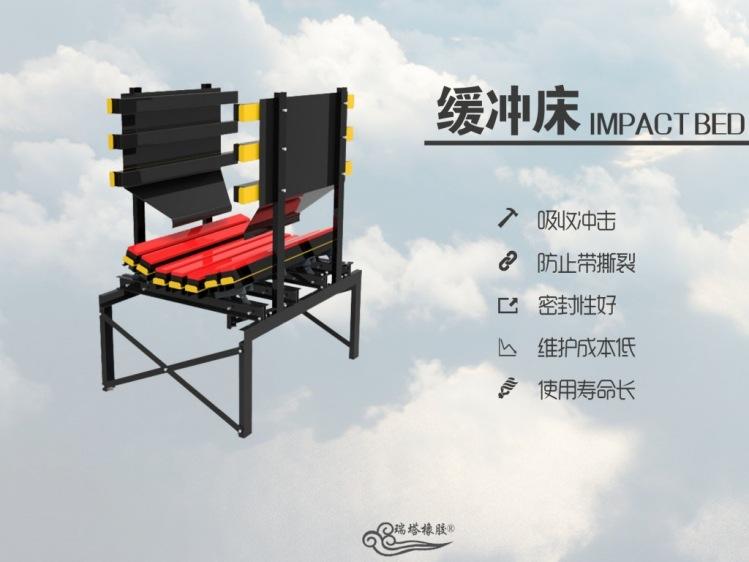 带宽1200mm煤矿缓冲床抗皮带撕裂,抗冲击缓冲托床示例图5