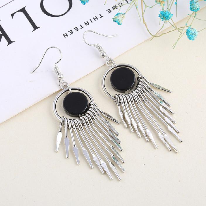 韓國時尚網紅閃鉆氣質耳釘簡約金屬羽毛長款耳環珍珠夸張葉子耳飾