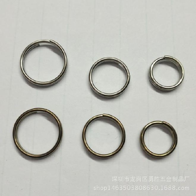 鈦合金鑰匙圈雙圈 登山扣 12mm鑰匙環 廠家直銷鑰匙圈環雙圈環
