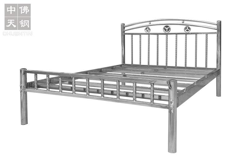 202鋼制公寓出租屋床 不銹鋼床1.2 1.5 1.8米304不銹鋼雙人床廠家示例圖3