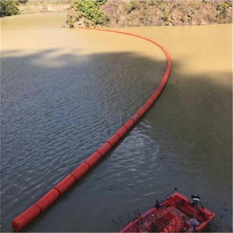 河道治理拦污浮筒 水面警示拦截浮筒 塑料拦污浮体 环海塑料