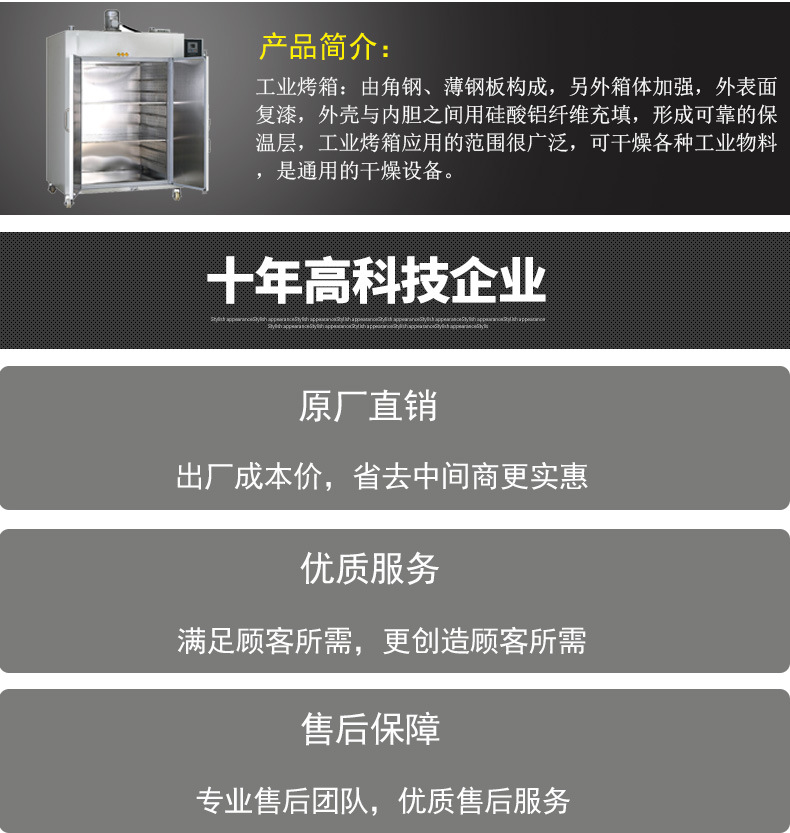 长期供应精密工业热风烤箱 高温真空干燥箱 鼓风无氧化烘示例图3
