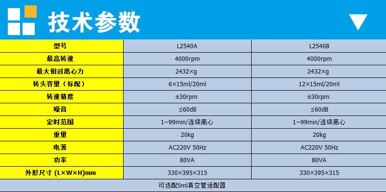上海知信离心机 血液低速离心机 L2540A/L2540B离心机 实验室低速示例图10
