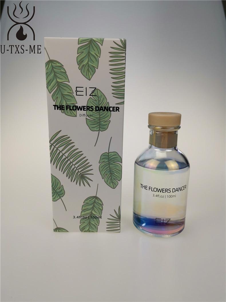 厂家定制镭射100ml香水玻璃瓶家居植物精油环保无火藤条香熏示例图10