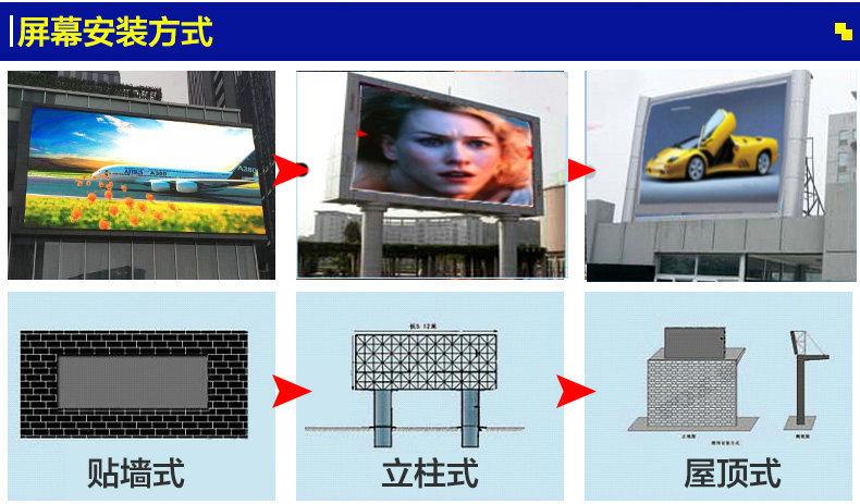 室外led显示屏高清电子广告屏幕 P8室外LED广告屏幕示例图15