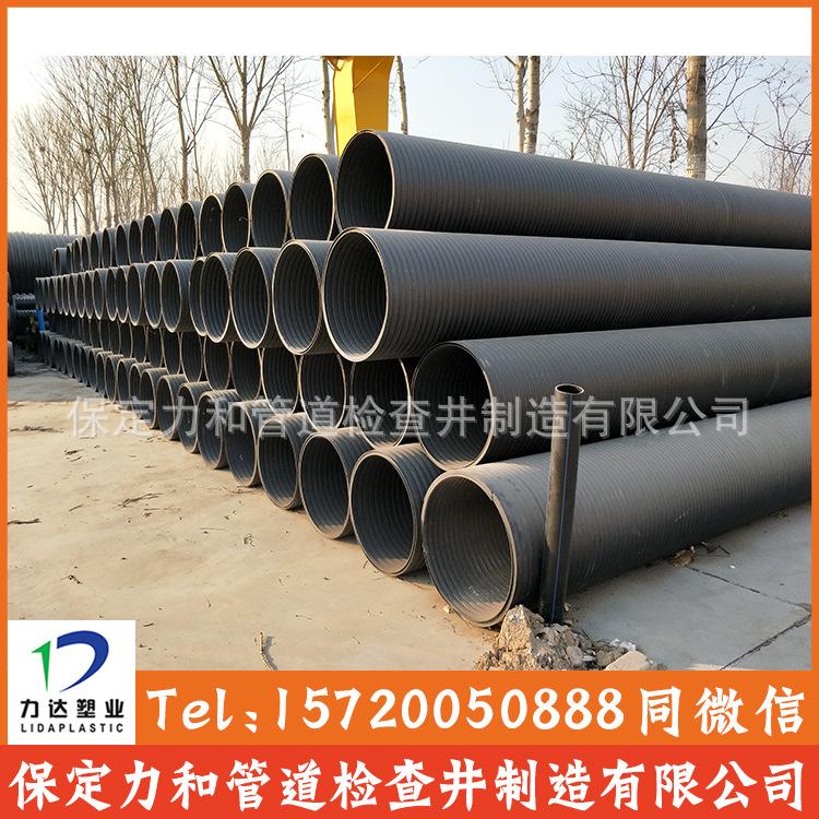中空壁缠绕管 井壁管 HDPE双平壁缠绕管示例图9