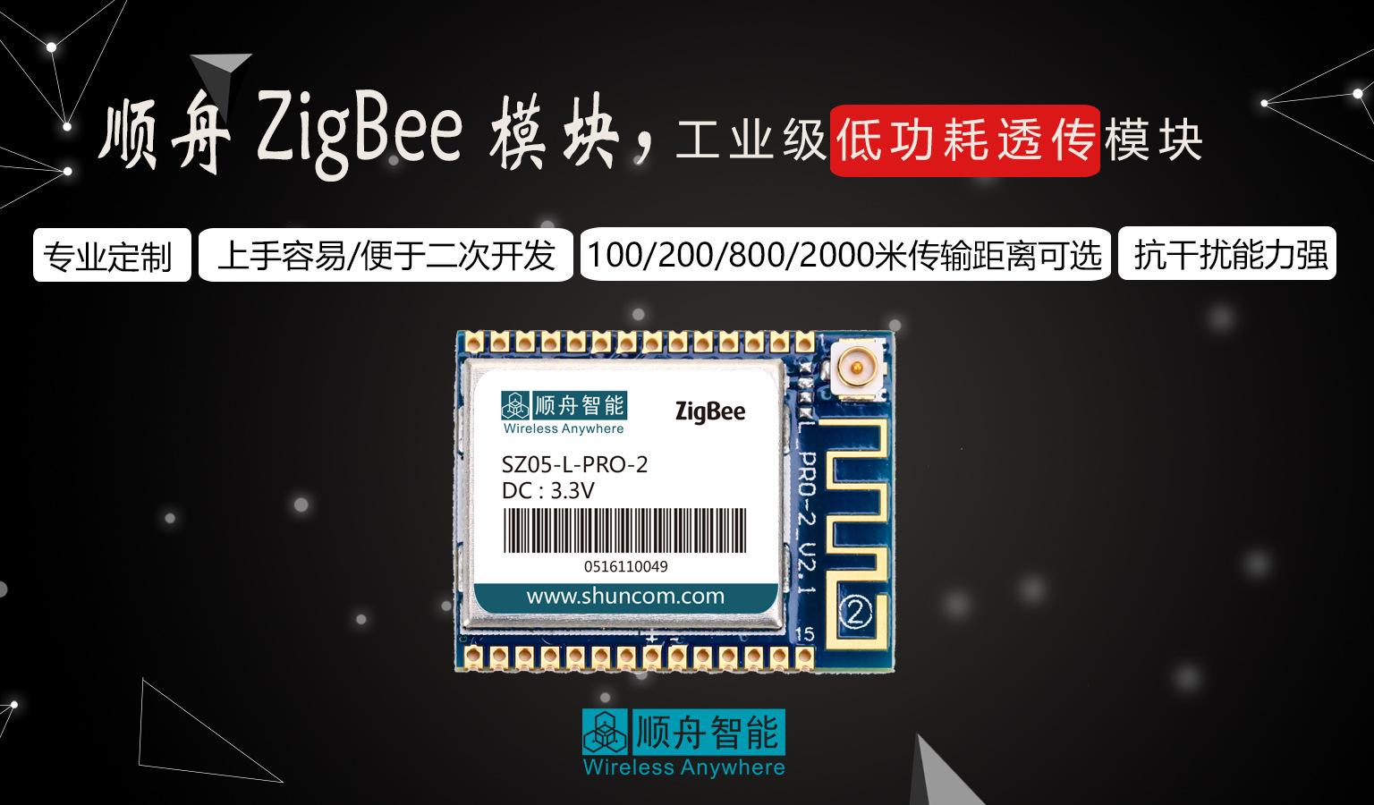 zigbee物联网传输模块厂家 无线传感数据采集zigbee模块 距离远示例图2