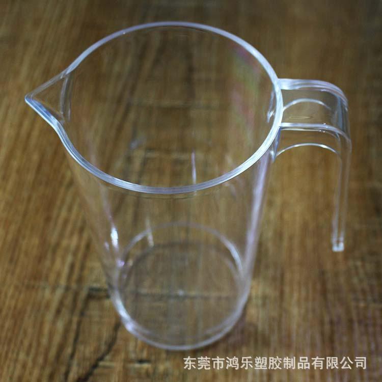 东莞工厂定制塑料分酒壶PS透明塑料冷水壶670ml果汁饮料壶尖嘴壶示例图12