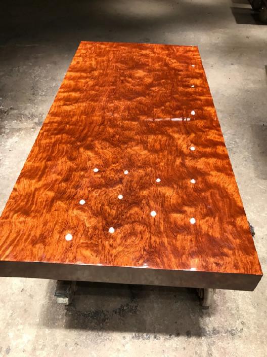 现货巴花大板竞技宝和雷竞技哪个好大板桌家用奥坎黄花梨办公桌原木大板台餐桌示例图14