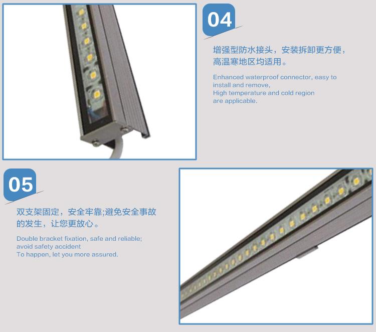 户外亮化工程专用LED线条灯条硬灯条线形铝 壳护栏管示例图3