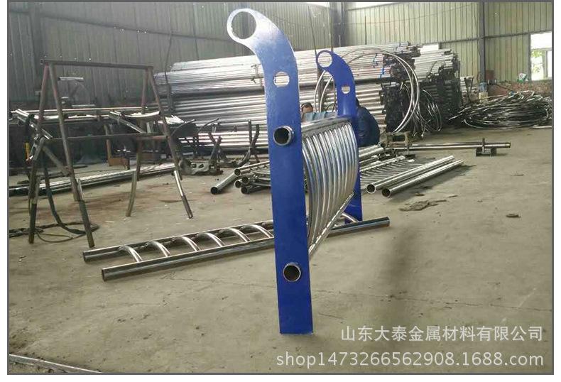 護欄鋼板立柱 不銹鋼復合管護欄鋼板立柱 防撞護欄鋼板立柱加工示例圖21