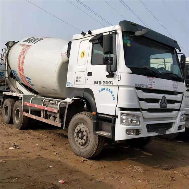出售二手水泥攪拌車,豪沃混凝土攪拌罐車 二手散裝水泥罐車