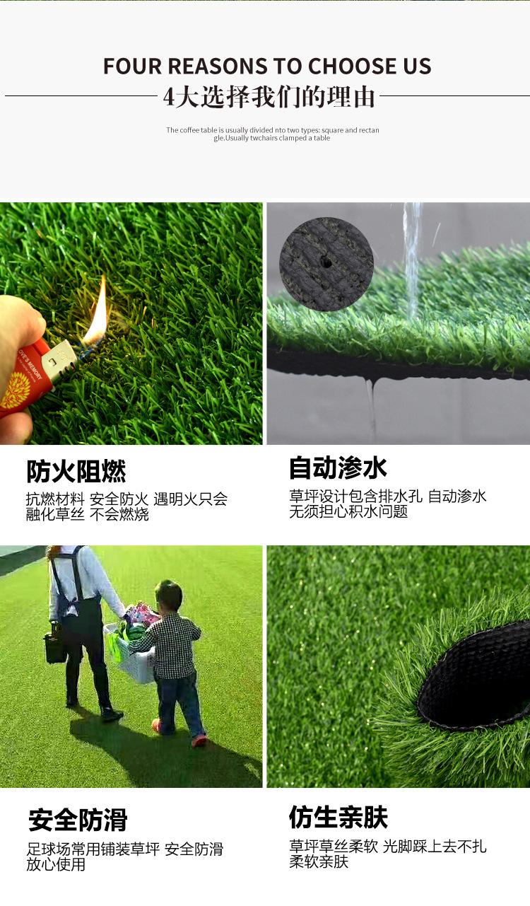 仿真草坪人造草 假草坪地毯 幼儿园彩色草皮人工塑料假草绿色户外示例图10