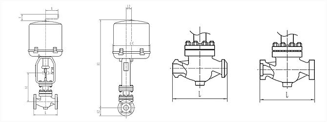 電動單座調節閥_ZRSP外形尺寸圖