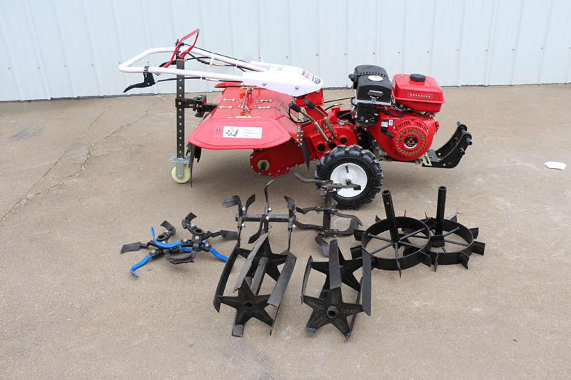 新型后旋式四驱微耕机 大棚翻地松土机 ZC-188型手扶式柴油开沟机志成机械示例图4